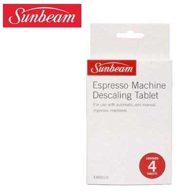 sunbeam espresso machine descaling tablets instructions