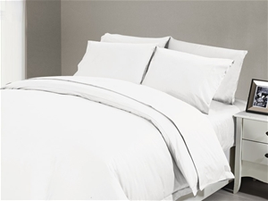 1200 TC Flat Sheet Queen White