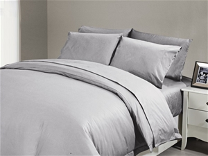 1200 TC Flat Sheet Single Grey Mist