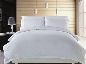 1200 TC Quilt Cover Set King Single Whit
