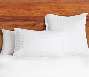 1200 TC European Pillow Cases White Stri