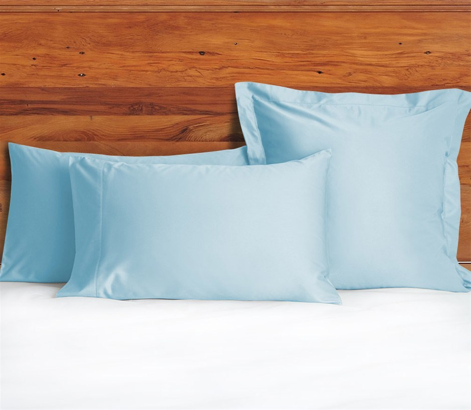 1200 TC Pillow Cases Sky Blue x 2