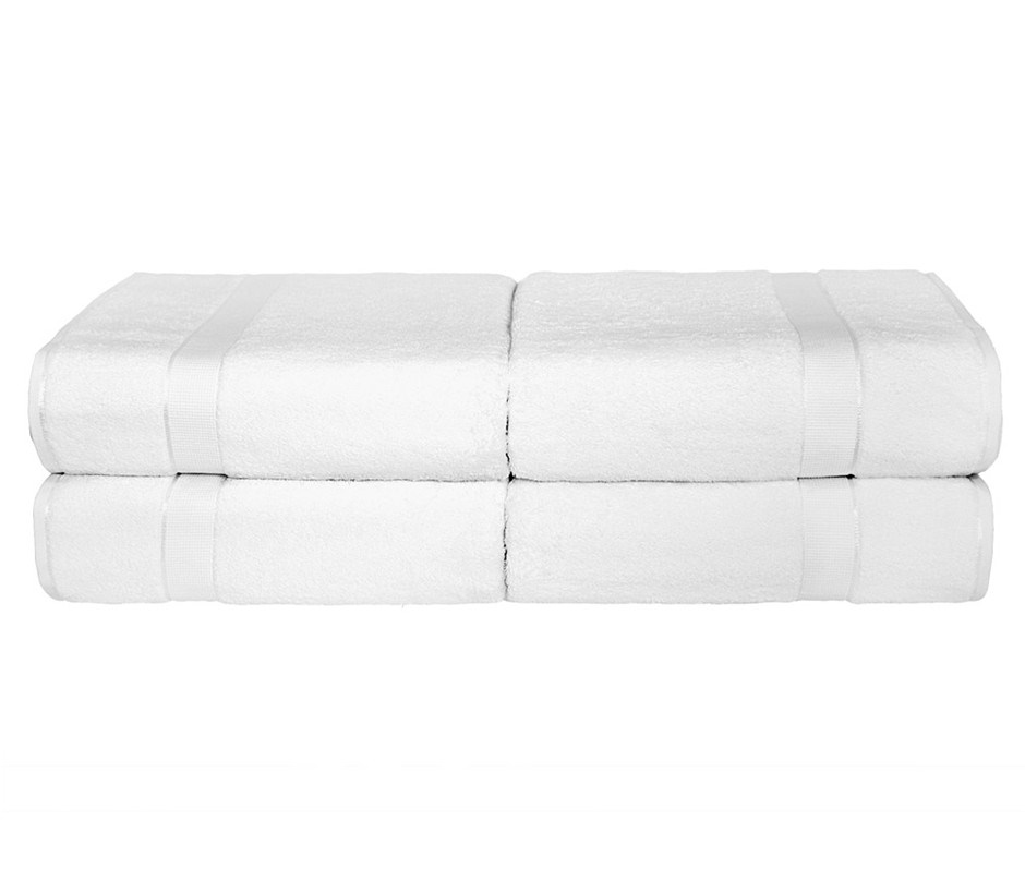 BeddingCo 700GSM Egyptian Cotton 4 Piece Bath Towel Set - White