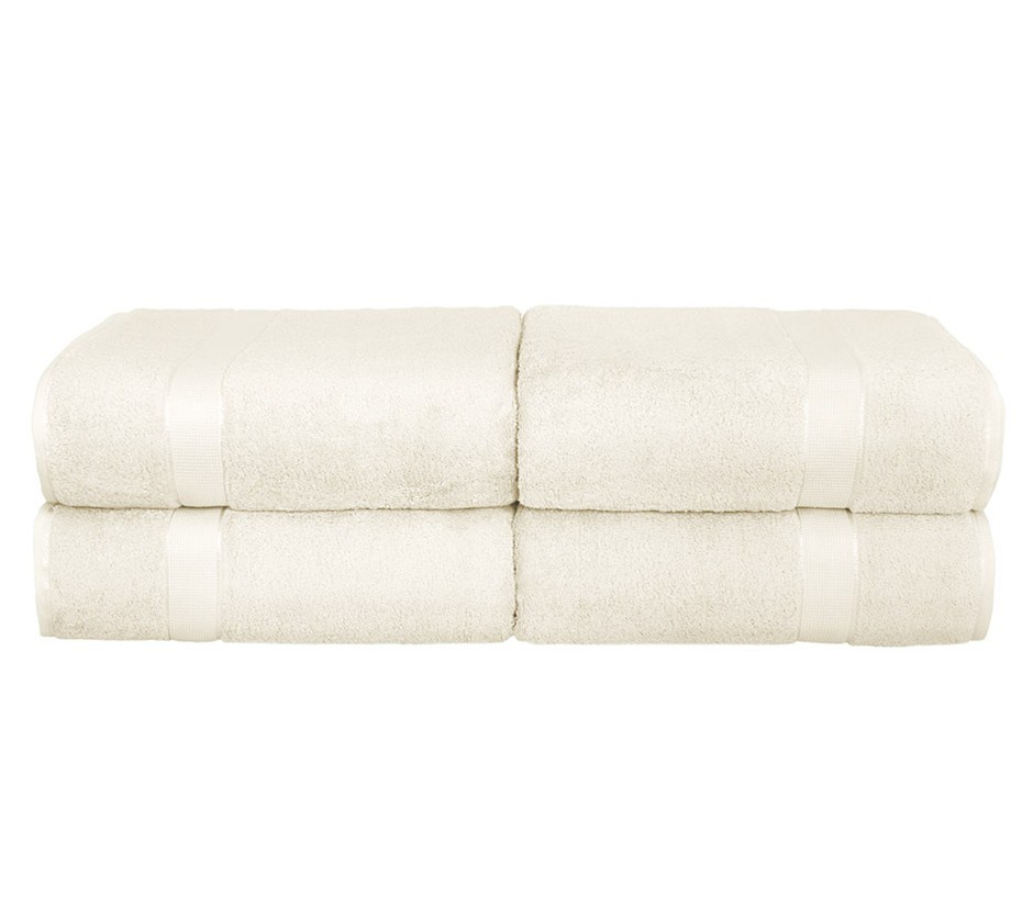 BeddingCo 700GSM Egyptian Cotton 4 Piece Bath Sheet Set - Ivory