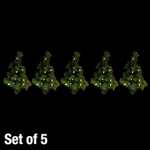 Buy 5 Pack Solar Led Christmas Tree Path Lights Multi