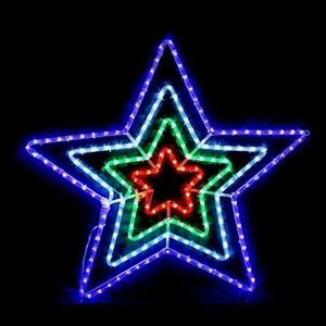 Buy led flashing 4 star christmas rope light display graysonline led flashing 4 star christmas rope light display aloadofball Choice Image