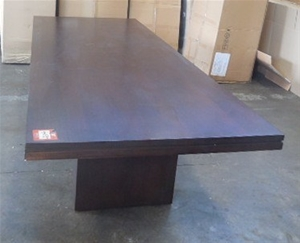Dining Table Solid Timber Dark Brown