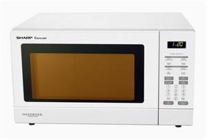 Sharp 1200w Inverter Sensor Microwave Oven White R380zw