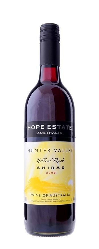 Hope Estate `Yellow Rock` Shiraz 2008 (12 x 750mL), Hunter Valley, NSW.