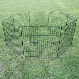 """24"""" 8 Panel Pet Playpen Fence Enclosure"""