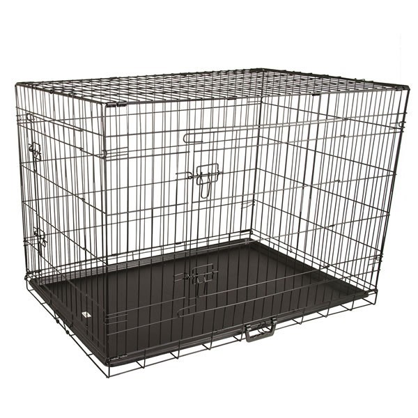 "42"" X-Large Collapsible 2 Door Metal Wire Dog Crate"