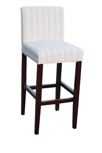 2 X White Stripe Fabric Palermo Bar Stools Dining Chairs Auction GraysOnlin