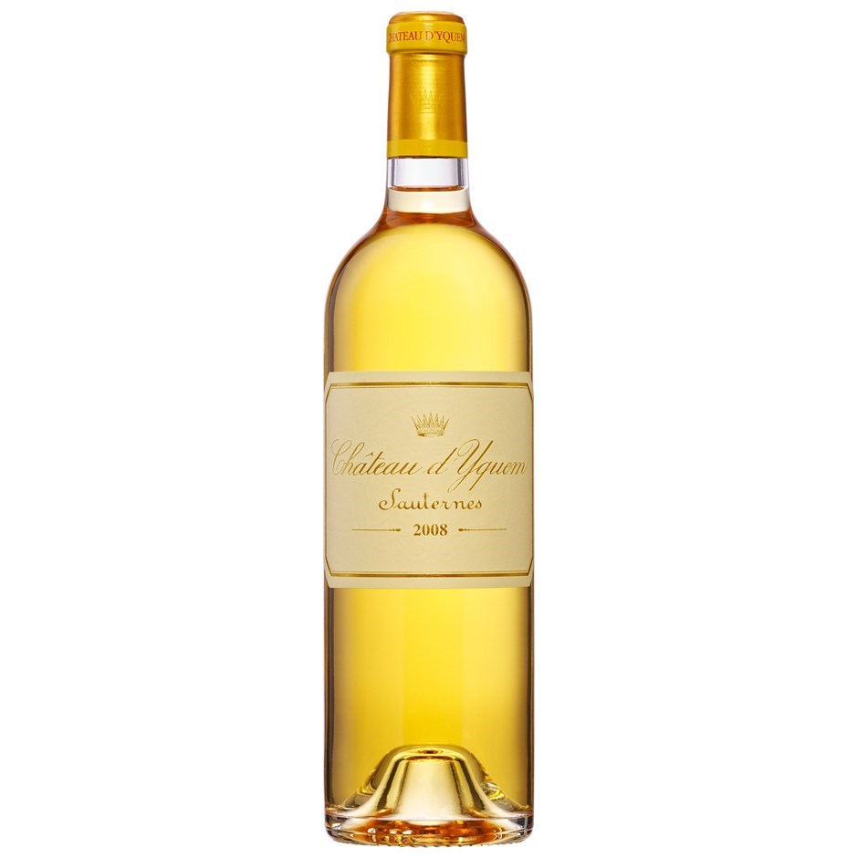 Chateau d'Yquem 2008 (6 x 750mL), Sauternes, Bordeaux, France.