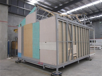 M2 golden quartz stack stone panels auction 0039 for Modular quadplex