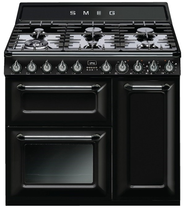 Smeg 90cm Thermoseal Victoria Freestanding Cooker - Model TRA93BL