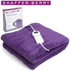 Shaffer Berry 120x160cm Electric Throw Rug Purple
