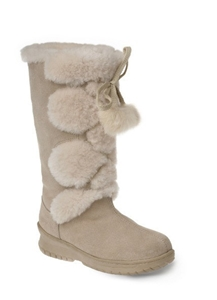 6e2aee6d7aa Ozwear UGG Pom Pom Long Boots in Various Colours Oyster