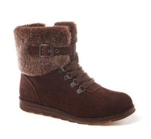 163da36ad24 Ozwear UGG Ladies Premium Sheepskin Lace up Boots Brown