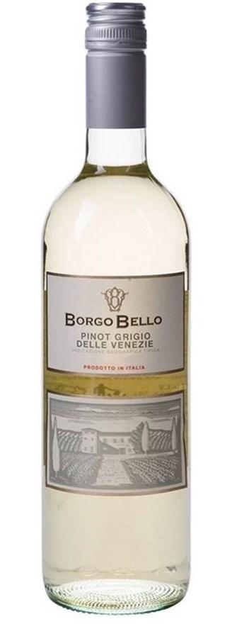 Borgo Bello Pinot Grigio Delle Venezie IGT 2017 (6 x 750mL), Veneto, Italy
