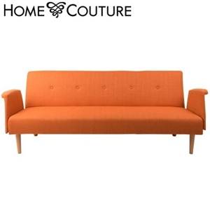 Buy Home Couture Click Clack Sofa Bed With Arms Orange Graysonline Australia
