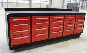 Heavy Duty Steel Work Bench Model T20d 20 Drawers