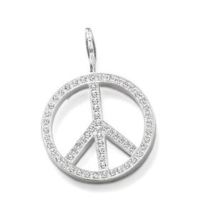 Buy thomas sabo sterling silver white pave peace symbol pendant thomas sabo sterling silver white pave peace symbol pendant aloadofball Images