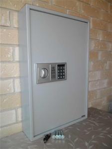 71 Key Safe Wall Mounted with Electronic Keypad