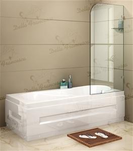 700x1450mm Frameless Bath Panel 10mm Gla