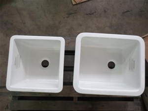 Qty of 2 Caroma Laboratory Sinks, 1 x 375 x 375 mm, 1 x 475 x 405 mm