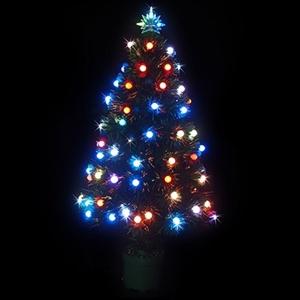 90cm led fibre optic christmas tree multi
