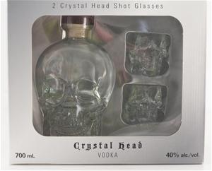 Crystal Head Vodka Gift Set 2 Shot Glasses 1 X 700ml