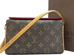 5001453c8483 Louis Vuitton Monogram Pochette Recital Purse Canvas Leather Vintage ...