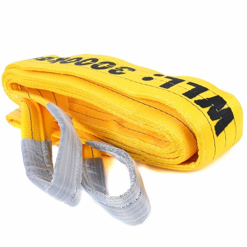 Flat Webb Lifting Sling, WLL 3000kg x 5M (with Test Cert). Buyers Note - Di