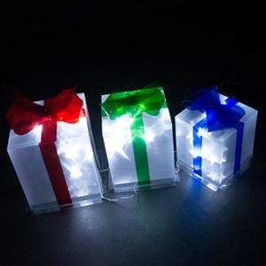 Solar Led Christmas Lights.Set Of 3 Solar Led Laser Presents Christmas Lights