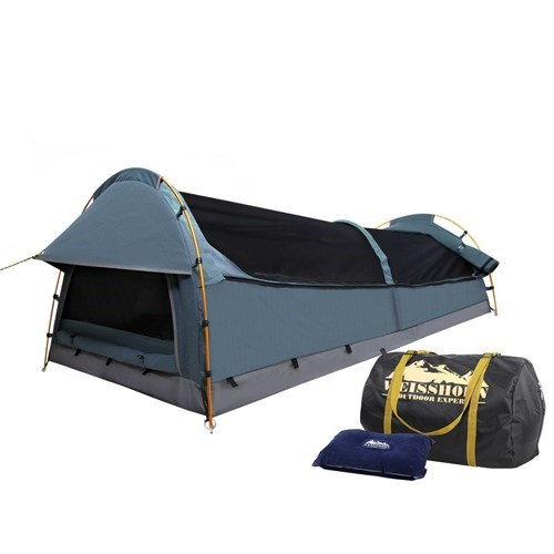 Weisshorn King Single Size Canvas Tent - Navy