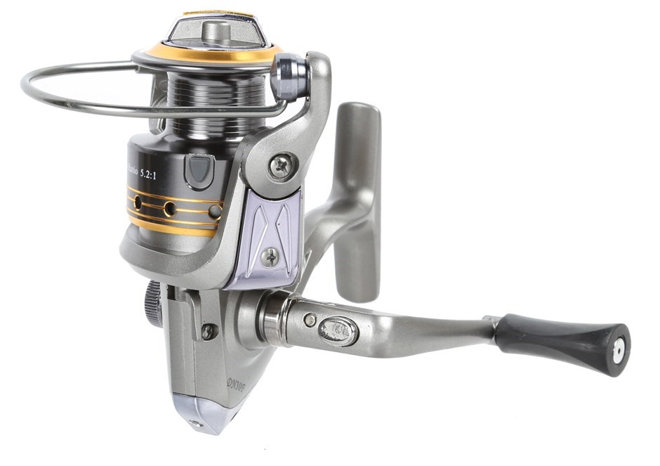 Fishing Reel 3BB Gear Ratio 5.2:1, Line Capacity 0.20/300, 0.25/195, 0.30/1