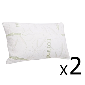 Giselle Bedding Set of 2 Bamboo Pillow w