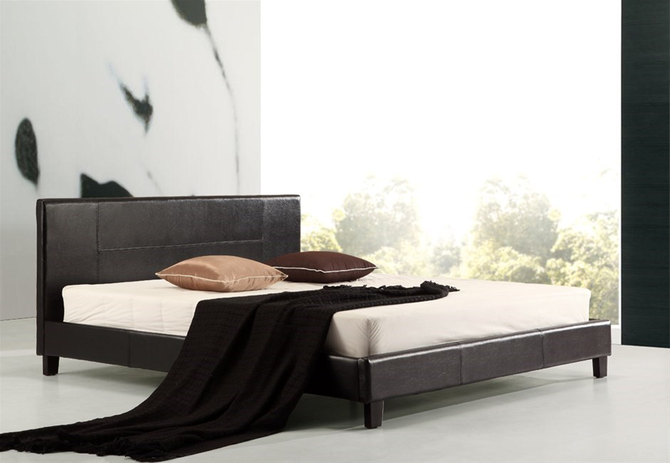 king size leather bed frame - 7 products | Graysonline
