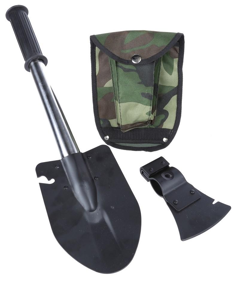 Outdoor shovel/Axe Combo c/w Canvass Pouch & Belt Loop. Buyers Note - Disco