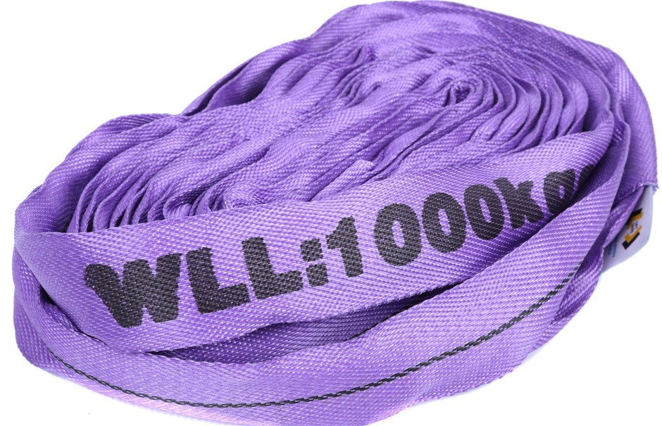 Round Lifting Sling, WLL 1,000kg x 4M (With Test Cert). Buyers Note - Disco