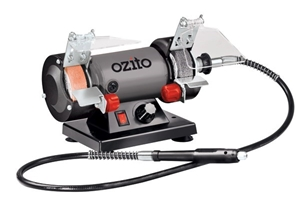 Ozito Double End Bench Grinder 75mm C W Flexiable Drive
