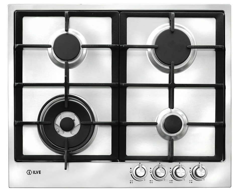 ILVE 62cm Stainless Steel Natural Gas Cooktop (ILGP64X)