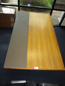 Qty office furniture including desk and credenza timber veneer auction 0026 7001352 Timber home office furniture brisbane
