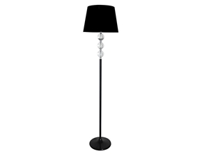 Contemporary Stacked Crystal Ball Floor Lamp In Black ...