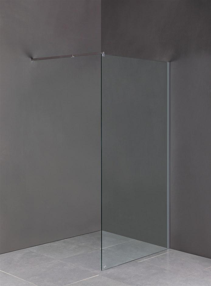 1200 x 2000mm Frameless 10mm Safety Glass Shower Screen