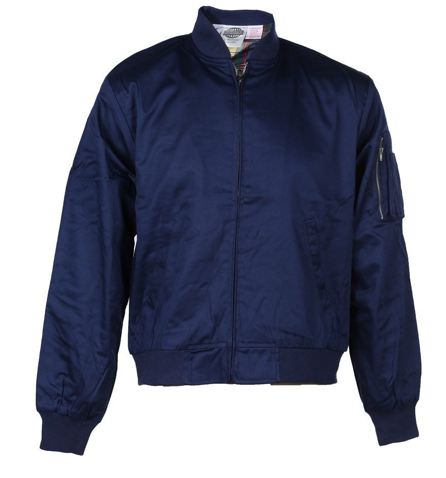 WORKSENSE Cotton Drill Jacket, Size XL, Zip Front Closure Ribbed Cuffs, Col