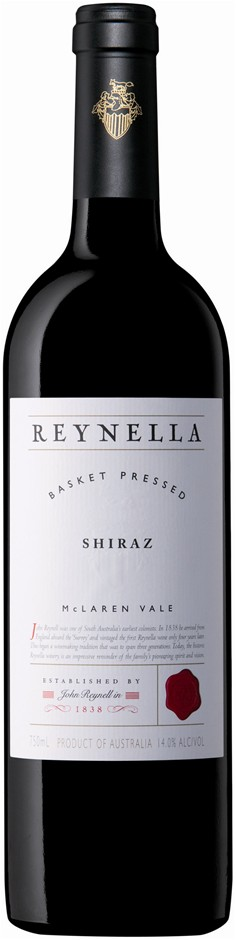 Reynella `Basket Pressed` Shiraz 2016 (6 x 750mL), McLaren Vale. SA.