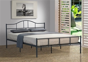 budget cheap jovy queen size dark grey metal bed frame