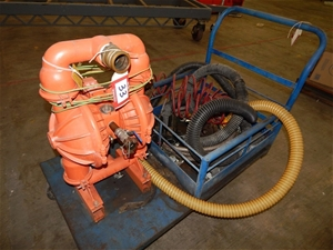 Twin Diaphragm Pump Unit, Wilden 8, pneumatic operated, 50mm inlet/outlet,