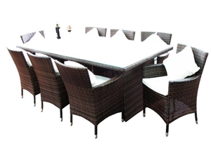 Buy sydney 8 seater wicker dining setting graysonline for 12 seater dining table sydney